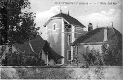 Montagnieu, villa Bel Air en 1930, p 132 de L'Isère les 533 communes - édit-photo Jourdan à Bourgoin.jpg