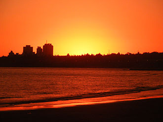 Montevideo - Sunset in Montevideo.