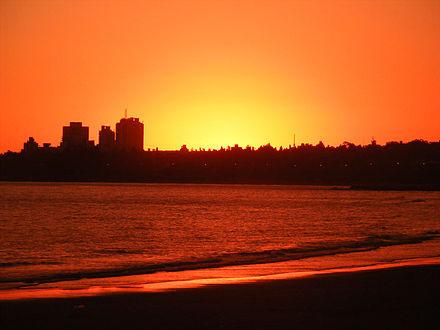 Sunset in Montevideo. MontevideoSunsetAtMalvin.JPG