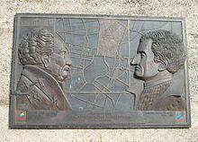 München-Bogenhausen: Gedenktafel für Friedrich Ludwig Sckell und Montgelas (Peter Weidl, 2002) (Quelle: Wikimedia)