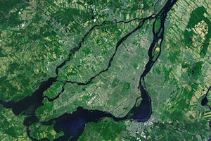 Greater Montreal - Satellite image of Greater Montreal