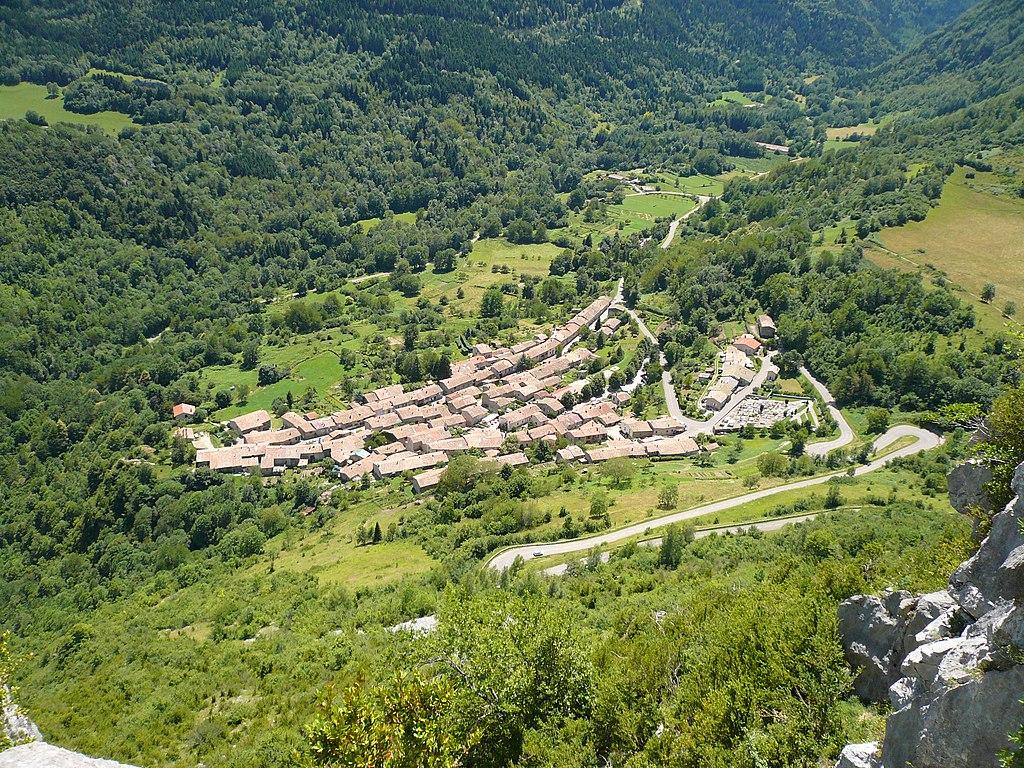 Le village vu depuis le château