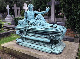 East Finchley Cemetery - Image: Monument to Thomas Tate 2