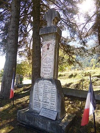 Le Glaizil - Image: Monuments aux morts du Glaizil