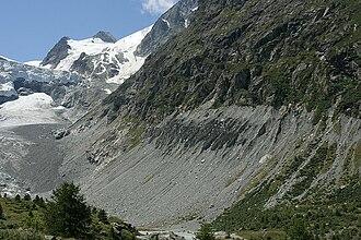 Ferpècle Glacier - view of glacier