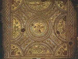 Hinton St Mary Mosaic - Image: Mosaic 2 plw