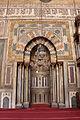Moschea del sultano hasan, 1362, interno, mihrab 01.JPG