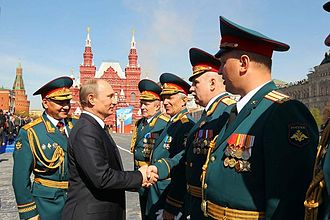Russian Armed Forces - Vladimir Putin and Defence Minister Sergey Shoygu, Victory Day Parade in Moscow, 9 May 2013.