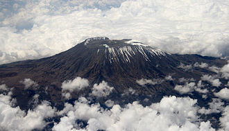 Mount Kilimanjaro - Aerial view of Mount Kilimanjaro in December 2009