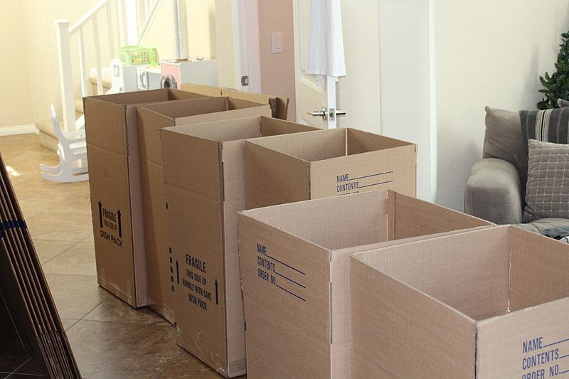 Things To Think About When Moving Into A New Home: Boxes