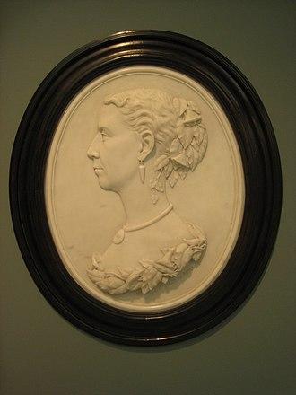 Margaret Foley - Image: Mrs. Cleveland by Margaret Foley, 1870 IMG 1662