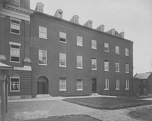 Black and white photograph of Mulledy Hall