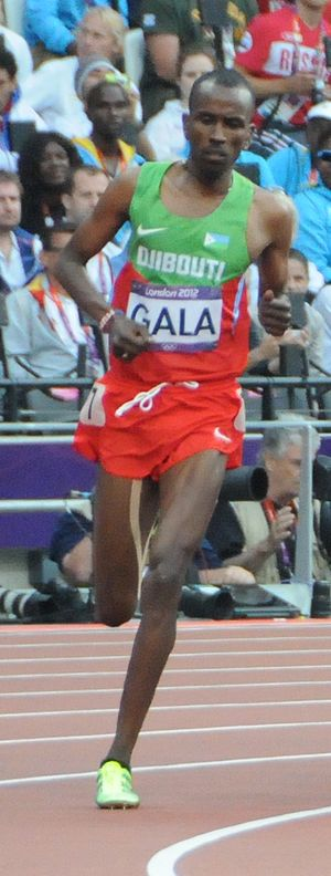 Djibouti at the Olympics - Mumin Gala competing in the 2012 Olympics.