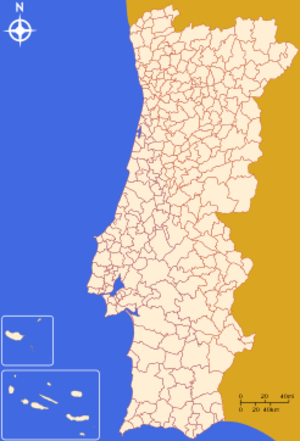 NUTS statistical regions of Portugal - The LAU1 designated municipalities of Portugal