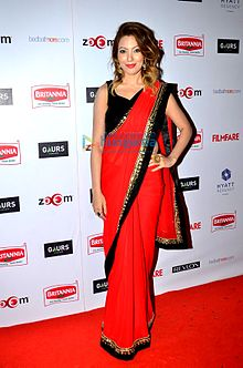 Munmun Dutta at 60th Filmfare pre-awards party.jpg