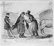 När pengarna togo slut, betalte vi vår skjuts med kappkragen. Fritz von Dardel, 1837 - Nordiska Museet - NMA.0053062