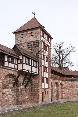 Nürnberg, Stadtbefestigung, Maxtormauer, Schwarzes H-20160304-001