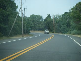 New Jersey Route 47 - NJ 47 southbound in Middle Township.