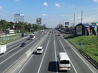 North Luzon Expressway - The Santa Ines-bound NLEX, just north of Paso de Blas, Valenzuela