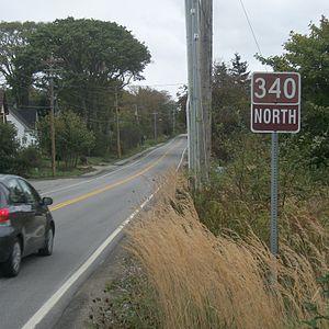 Nova Scotia Route 340 - Route 340 in Hebron, Yarmouth County, Nova Scotia