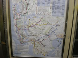 Mta Subway Map In 1990.New York City Subway Map Wikipedia