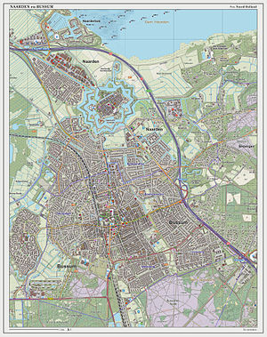 Naarden-Bussum railway station - Dutch topographic map of Naarden and Bussum, 2014