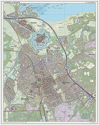 Naarden-Bussum railway station - Dutch topographic map of Naarden and Bussum, 2014