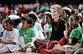 "Nancy Reagan attending a ""Just Say No"" rally with children at Kaiser Arena in Oakland California.jpg"