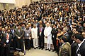 Narendra Modi with the delegates at the National Conference of Dalit Entrepreneurs, organised by the DICCI, in New Delhi. The Union Minister for Social Justice and Empowerment, Shri Thaawar Chand Gehlot is also seen.jpg