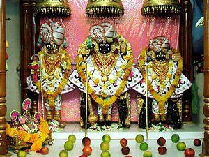 Shri Swaminarayan Mandir, Bhuj - Narnarayan Dev murti at this temple