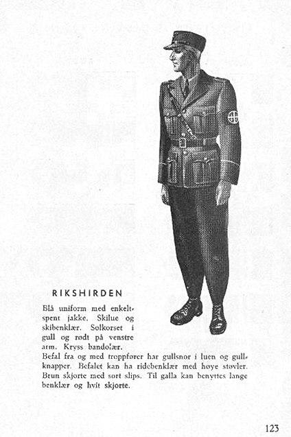 Nasjonal Samling NS Aarbok 1944 s123 (uniformer) Rikshirden