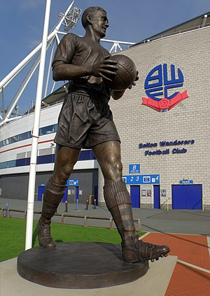 Macron Stadium - Lofthouse's statue outside Macron Stadium.