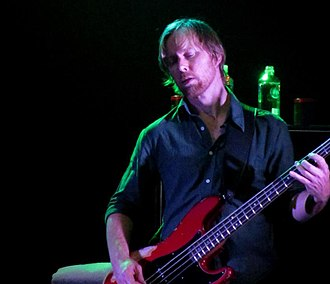 Nate Mendel - Mendel playing with the Foo Fighters in Adelaide, 2011