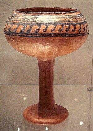 Malwa - Ceramic goblet of the Malwa culture from Navdatoli, Malwa, 1300 BCE.