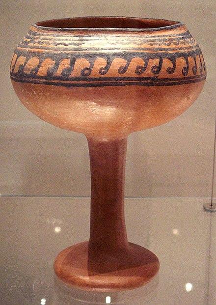 Artigo de cerâmica de Navdatoli, Malwa, 1300 a.C.
