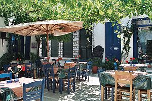 Greek cuisine - Traditional Greek taverna, an integral part of Greek culture and cuisine