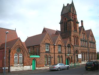 Nechells - Nechells Primary E-ACT Academy, formerly Nechells Primary School and Hutton Street Board School, on Eliot Street.