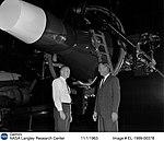 Neil Armstrong in front of Gemini simulator (EL-1999-00378).jpg