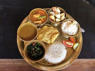 Nepalese cuisine - Nepali Dal-bhat-tarkari