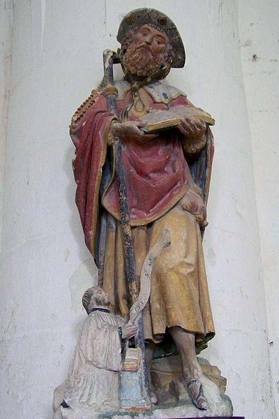 Église Saint-Symphorien de Neuvy-Sautour, saint jacques et donateur (16e s.)