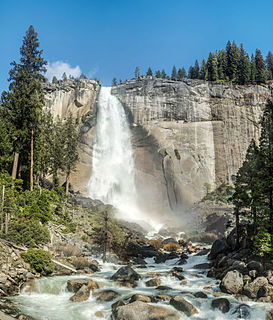 Nevada Fall Waterfall in Yosemite National Park, California