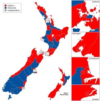 26th New Zealand Parliament - Image: New Zealand Electorates 1938