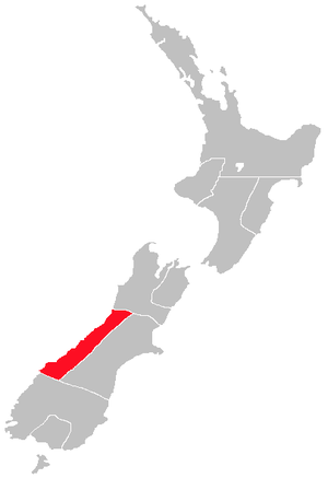 Westland County - Image: New Zealand provinces Westland