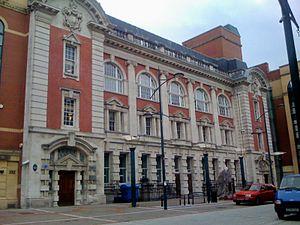 High Street, Newport, Wales - The façade of the former main Post Office, High Street