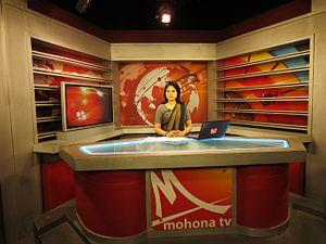 Mohona TV - News Presenter Roksana Choudhury of Mohona TV