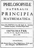 Principia Mathematica de Isaac Newton