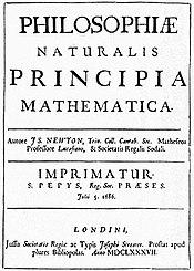 isaac newton titelblatt der erstausgabe seiner schrift philosophiae naturalis principia mathematica aus dem jahr 1687 - Isaac Newton Lebenslauf