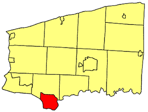 North Tonawanda, New York - Location within Niagara County.