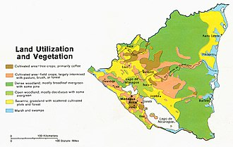 Geography of Nicaragua - Land use map of Nicaragua, 1979