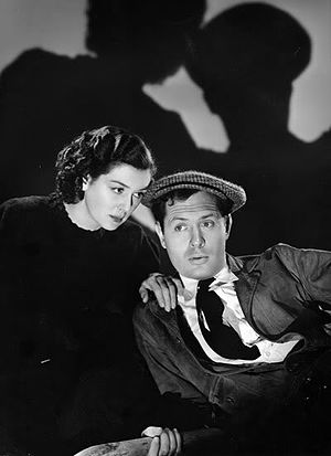 Night Must Fall (1937 film) - Rosalind Russell and Robert Montgomery in Night Must Fall